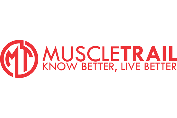 Muscle Trail Logo Vector PNG