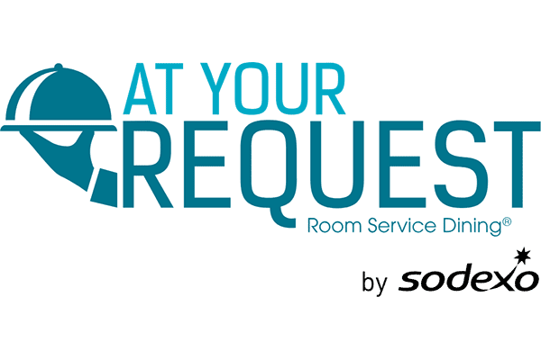 AT YOUR REQUEST Room Service Dining by sodexo Logo Vector PNG