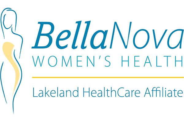 BellaNova Women's Health Lakeland HealthCare Affiliate Logo Vector PNG