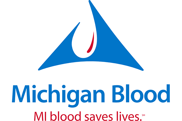 Michigan Blood Logo Vector PNG