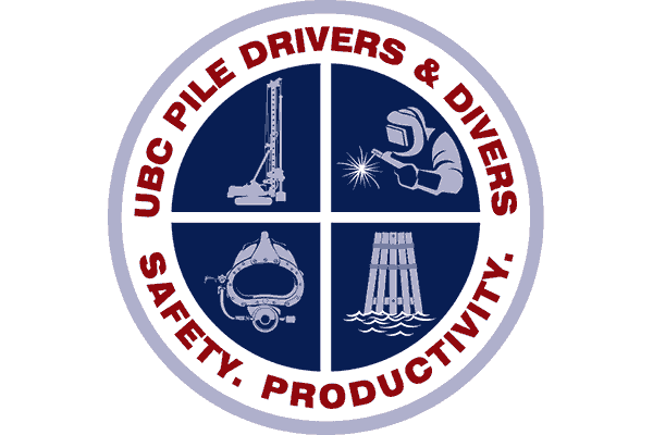 UBC Pile Drivers and Divers Logo Vector PNG
