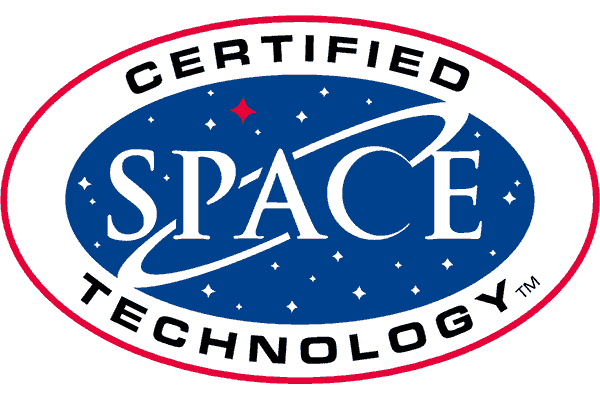 Space Certified Technology Logo Vector PNG